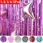 Foil Fringe Backdrop Wedding Birthday Party Wall Decoration Glitter Curtain