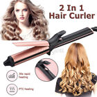 2 in1 Hair Straightener Curler Styler Negative Ions Curling Iron Hair