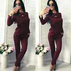Womens Comfort GYM Tracksuits Sets Lounge Wear Casual Tops + Pants Sport Suits