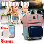 LEQUEEN USB Charging Port Baby Diaper Bag Mummy Backpack Maternity Nappy