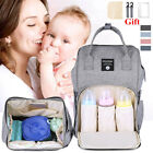 Waterproof Mummy Maternity Nappy Baby Diaper Bag Backpack Travel Handba