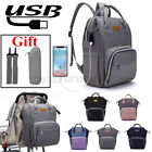 USB/Earphone Port Large Mummy Diaper Bag Baby Nappy Charging Travel