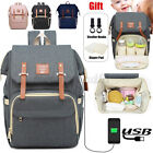 Waterproof Nylon Baby Diaper Bag USB Charging Backpack Mummy Nursing Pack NEW