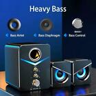 USB 5.0 Computer Speakers with Subwoofer,3.5mm Multimedia For Desktop PC H0W1
