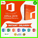 ??Office®Professional®2019 Plus 32?64 Bit??? License?key ? Instant Delivery??
