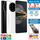 """7.3"""" Large Screen Quad Core 2 Sim Android Unlocked Smartphone Mobile Phone 3g Uk"""