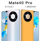 6.7 Quad Core 2 Sim Android Face Unlocked Smartphone Mobile Phone 3g Mate 40 Pro