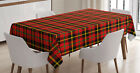 Kitchen Dinning Table Rectangular for Printed Table Cover Fabric by Ambesonne