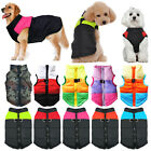 Small Medium Large Dogs Coat Jacket Puppy Pet Outfit Padded Vest Zipper Outfits