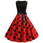 HOT Womens Pinup Vintage 1950s 60s Rockabilly Evening Prom Swing Dress Plus Size