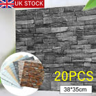 20× 3D Tile Brick Wall Sticker Self-adhesive Waterproof Foam Panel Wallpaper TH