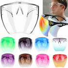 Внешний вид - Clear Face Shield Glasses Face Mask Transparent Reusable Visor Anti-Fog Dust USA