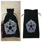 Velvet Pentagram Tarot Card Storage Bag Oracle Card Witch Divination Accessories