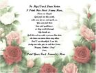 Mother's Day Personalized Gifts~Personalized Poem 4 a Special Sister (25 styles)