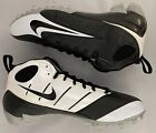 NEW Mens Nike Speed TD 3/4 Football Cleats Black White Silver 318730 001
