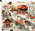 Toile Toile De Jouy History Historical Cities Spoonflower Fabric by the Yard