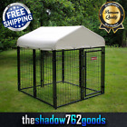 Large Dog Pet Cage Outdoor Garden Yard Patio Kennel with Canopy Roof Cover NEW!