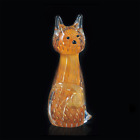 Cat IN Murano Glass Original With Bubbles And Gold Made Ìn Italy Made by Hand
