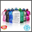 Water Jugs Quifit 1 Gallon Water Bottle With Straw Time Marker 2.2l Bpa Free