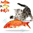 USB Electric Moving Cat Fish Interactive Pet Kitty Toys Wagging Fish Plush 01A4