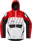 Icon Airform Retro Hooded Motorcycle Jacket RED