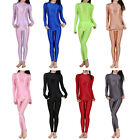 Women Glossy Outfit Set Sport Yoga Long Sleeve T-shirt Blouse with Leggings