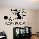 Soccer Kids Diy Name Wall Art Decal Decoration Fashion Sticker For Home Decor