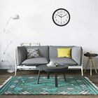 Hippih Black Wall Clock Silent Non Ticking Quality Quartz, 10 Inch Round Easy to