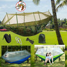 Portable Tent Camping Hammock Mosquito Net Cover Yard Outdoor Hanging Swing Bed