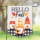 Fall Garden Flag Gnomes Home Autumn Harvest Party Outdoor Lawn Yard Decoration