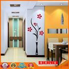 Diy Vase Flower Tree Crystal Arcylic 3d Wall Sticker Decal Home Decor A#s