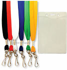 5 LANYARD NECK STRAP FLAT + VINYL BADGE HOLDER ID CARD
