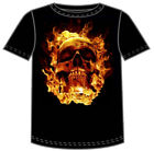 Fire Skull by JSR Black Adult T-shirt