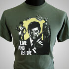James Bond Live and Let Die Retro Movie T Shirt Classic 007 Cool 70's