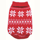 887 XS~L Red Snowflakes Sweater Coat Dress  Dog Clothes Sweatshirt Jacket -N