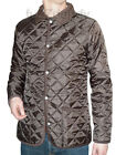 mens quilted coat jacket brown preppy xs s m l xl indie