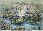 Vintage Art POSTER.Home wall.1901 Aerial Buffalo Exposition.Room interior.546