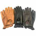 TOP QUALITY REAL SOFT COMFORT PRIME LEATHER CHAUFFEUR MENS DRIVING GLOVES - D503