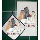 POODLES POT HOLDER/KITCHEN DISH TOWEL SET