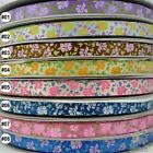 "3/8""mixed flower satin RIBBON lot bow 5 yard U pick"