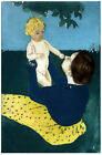 Vintage POSTER.Stylish Graphics.Mom and Baby paint.Wall room.Decor.669i