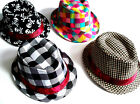 One Size 52cm Boys/Girls Trilby Hat Sun Party Dance Summer