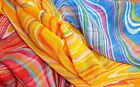 3 retro WAVE PRINT sarong DRESS beachwear light FABRICS