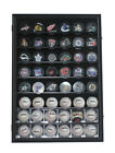 Large 48 MLB Baseball Display Case Cabinet with Lock and UV Protection Door: B48