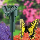 Fluttering Solar/Battery Powered Butterfly with Ground Spike Monarch Swallowtail