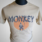 Monkey Magic (Tan) TV Themed Retro T Shirt Martial Arts Kung Fu Cult
