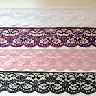 """Best Quality Nottingham Lace 2.5"""" WHITE, BLACK, IVORY, PINK, RED, GREY, BLUE"""