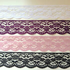 "Best Quality NOTTINGHAM Lace Trimming 2.5"" WHITE, BLACK, IVORY, PINK, RED,GREY,"