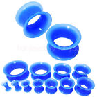 FLESH TUNNEL FLEXIBLE SILICONE EAR PLUG SOFT DOUBLE FLARED EXPANDER  4mm TO 30mm