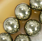 10mm Natural Golden khaki Pyrite Round Beads 15.5""